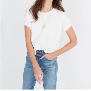 MADEWELL White Crop Tee - size Small! LIKE NEW!